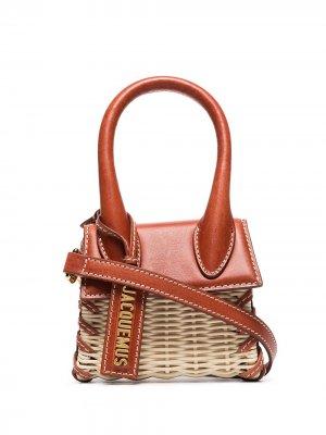 Le Chiquito raffia mini bag Jacquemus. Цвет: нейтральные цвета