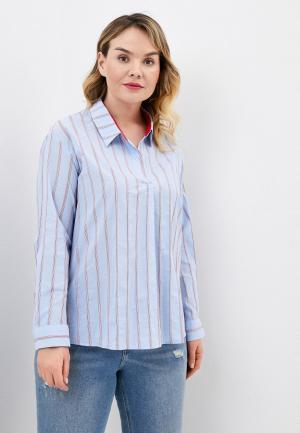 Блуза Ulla Popken. Цвет: голубой