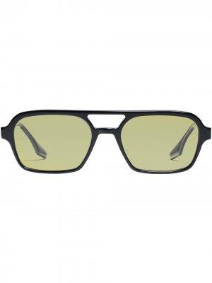 Солнцезащитные очки Kings в массивной оправе Gentle Monster. Цвет: зеленый