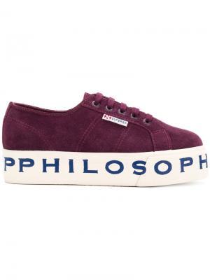 Кроссовки  X Philosophy Superga. Цвет: розовый