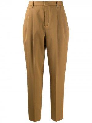 Зауженные брюки с завышенной талией RED Valentino. Цвет: коричневый