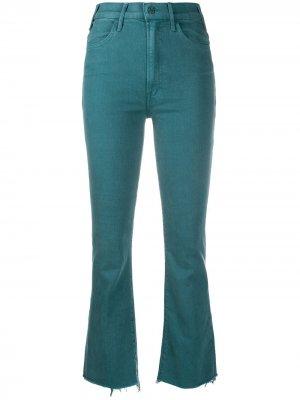 Укороченные расклешенные джинсы MOTHER. Цвет: зеленый