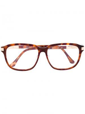 Очки в прямоугольной оправе Yves Saint Laurent Pre-Owned. Цвет: коричневый