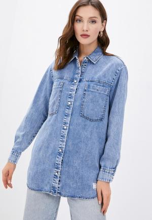 Рубашка джинсовая Marc OPolo Denim O'Polo. Цвет: голубой