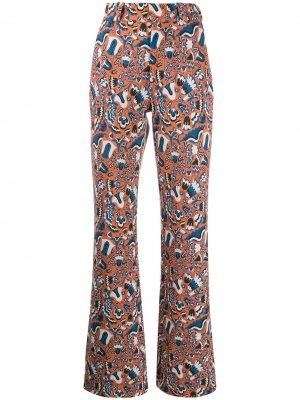 Длинные расклешенные брюки La Doublej. Цвет: оранжевый