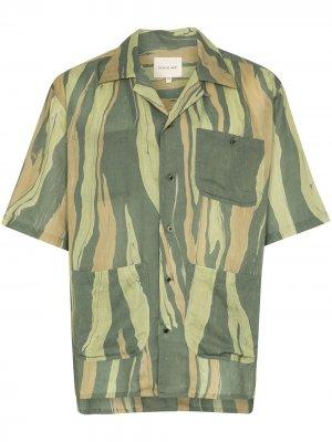 Рубашка Aloha с короткими рукавами Nicholas Daley. Цвет: зеленый