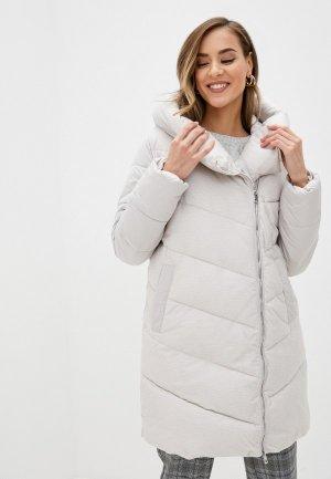Куртка утепленная Zolla. Цвет: бежевый