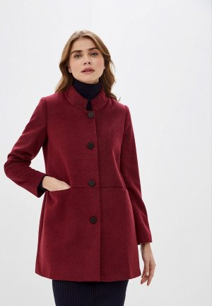 Пальто adL. Цвет: бордовый