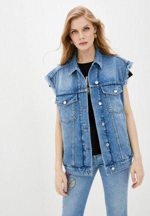 Жилет джинсовый Liu Jo. Цвет: синий
