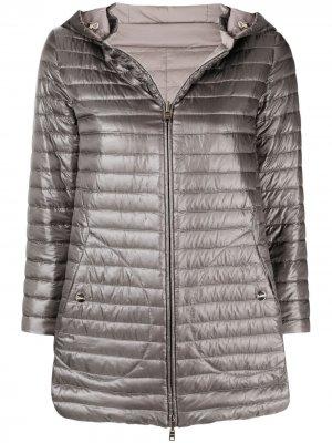Двусторонняя куртка с рукавами три четверти Herno. Цвет: серый