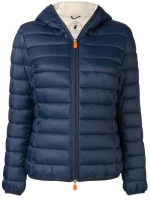 Утепленная куртка Save The Duck. Цвет: синий