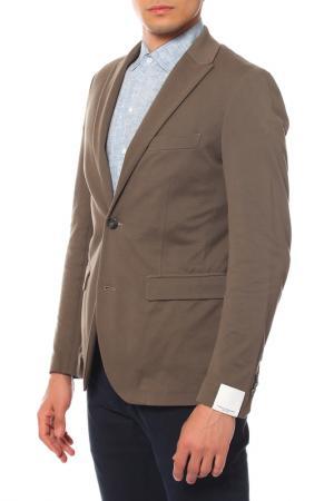 Пиджак PAOLO PECORA. Цвет: коричневый