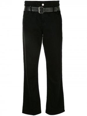 Расклешенные брюки с поясом RtA. Цвет: черный