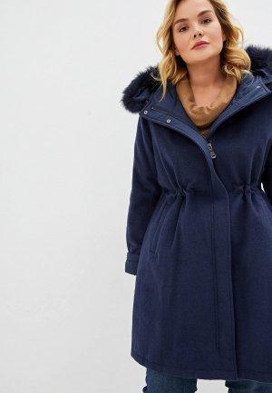 Пальто Elena Miro. Цвет: синий