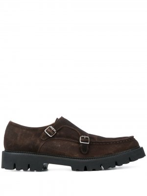 Туфли монки с пряжками Eleventy. Цвет: коричневый