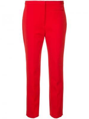 Прямые брюки Milly. Цвет: красный