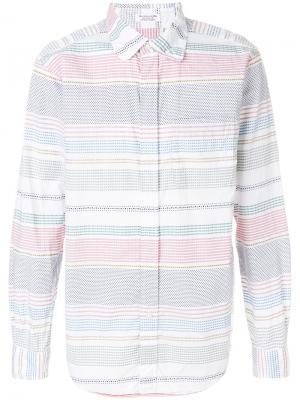 Рубашка в полоску Dobby Engineered Garments. Цвет: разноцветный
