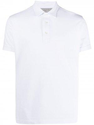 Рубашка поло с короткими рукавами Eleventy. Цвет: белый