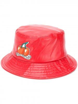 Виниловая панама Cherry Fiorucci. Цвет: красный