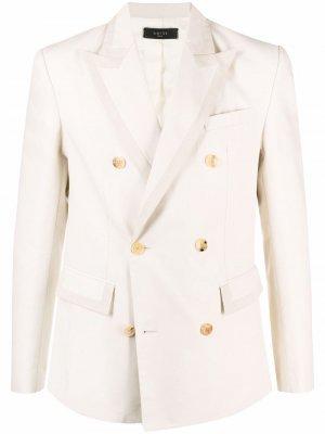 Двубортный пиджак с заостренными лацканами AMIRI. Цвет: нейтральные цвета