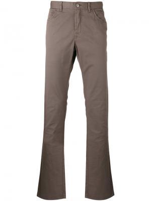 Зауженные брюки Brioni. Цвет: коричневый