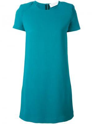 Однотонное платье-шифт Gianluca Capannolo. Цвет: зеленый