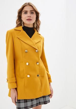 Пальто Dorothy Perkins. Цвет: желтый