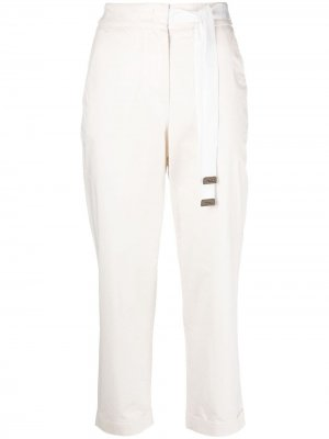 Укороченные брюки прямого кроя Peserico. Цвет: нейтральные цвета