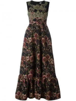 Платье с цветочным принтом Antonio Marras. Цвет: чёрный