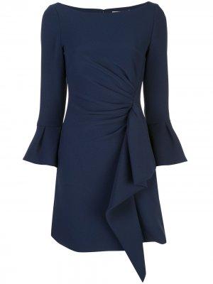 Короткое платье с оборками Jonathan Simkhai. Цвет: синий