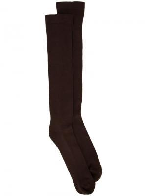 Носки Rick Owens. Цвет: коричневый