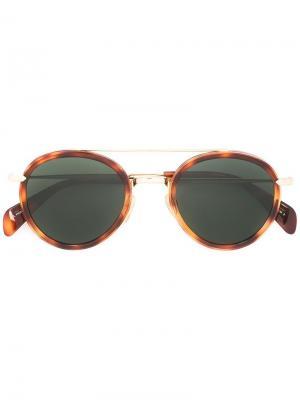 Солнцезащитные очки в круглой оправе Céline Eyewear. Цвет: коричневый