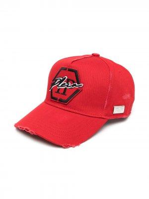 Бейсболка с вышитым логотипом Philipp Plein. Цвет: красный