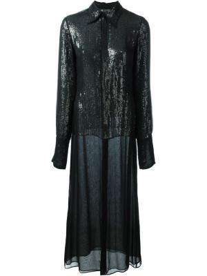 Двухслойное платье Jean Paul Gaultier Vintage. Цвет: черный