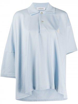 Рубашка-поло оверсайз LANVIN. Цвет: синий