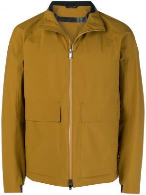 Куртка на молнии с большими карманами Z Zegna. Цвет: желтый