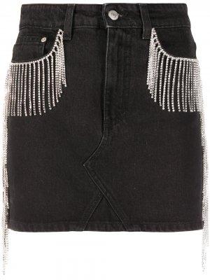 Декорированная юбка с завышенной талией Chiara Ferragni. Цвет: черный