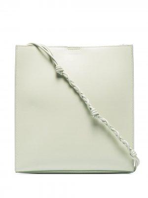 Сумка через плечо Tangle среднего размера Jil Sander. Цвет: зеленый
