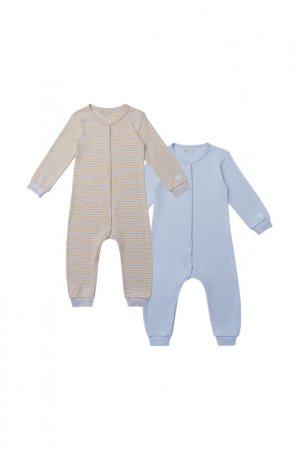 Пижама, 2 шт Kogankids. Цвет: серый меланж