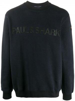Толстовка с логотипом Paul & Shark. Цвет: синий