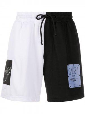 Спортивные шорты в стиле колор-блок McQ Swallow. Цвет: черный
