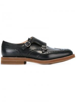 Туфли-монки с пряжками Church's. Цвет: черный