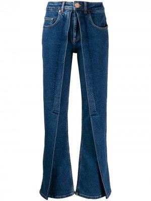 Расклешенные джинсы Aalto. Цвет: синий