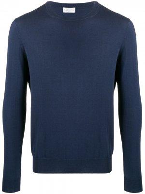 Пуловер с круглым вырезом Ballantyne. Цвет: синий