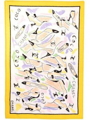 Пляжное полотенце с принтом Chanel Pre-Owned. Цвет: разноцветный