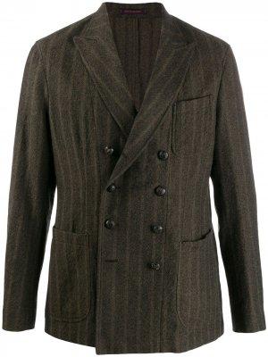 Двубортный пиджак The Gigi. Цвет: зеленый
