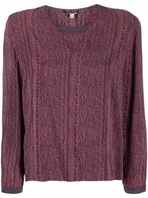 Блузка 1990-х годов с абстрактным принтом Giorgio Armani Pre-Owned. Цвет: розовый