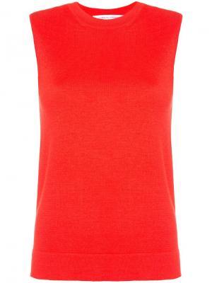 Топ тонкой вязки Carolina Herrera. Цвет: красный