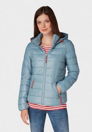 Куртка утепленная Tom Tailor Denim. Цвет: голубой