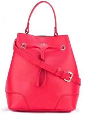 Сумка-мешок Furla. Цвет: красный